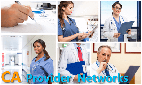 California doctor networks for Anthem Blue Cross versus Blue Shield of California